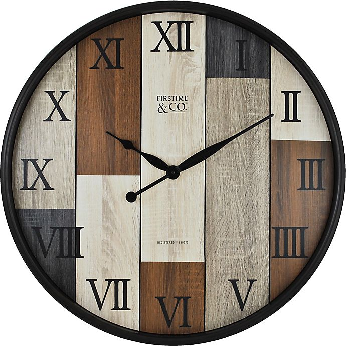 Alternate image 1 for FirsTime® Timberline Wall Clock in Bronze/Wood
