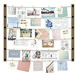 Umbra Hangup 30 Clip Photo Collage in Barnwood