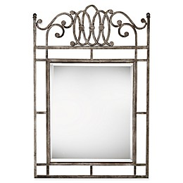 Hillsdale Montello Console Mirror in Old Steel