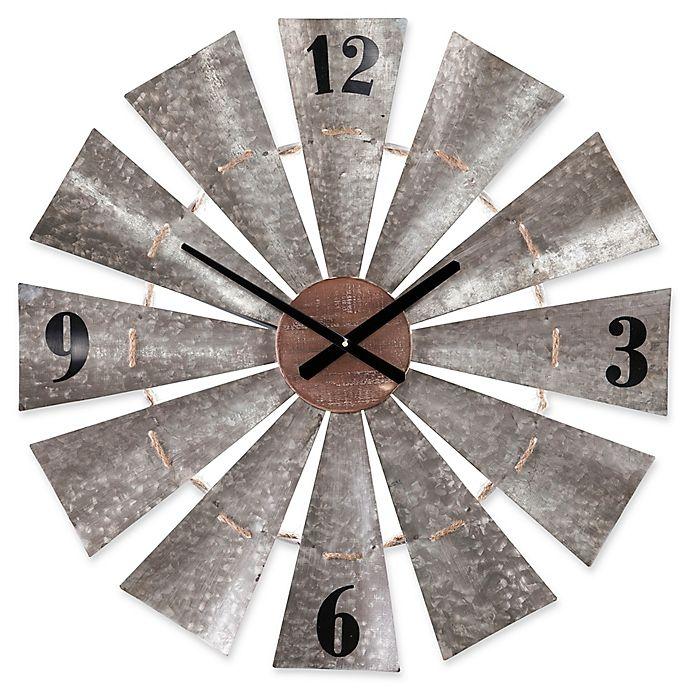 Alternate image 1 for Southern Enterprises Brevan Windmill Wall Clock