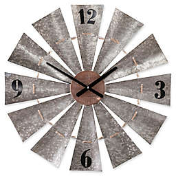 Southern Enterprises Brevan Windmill Wall Clock