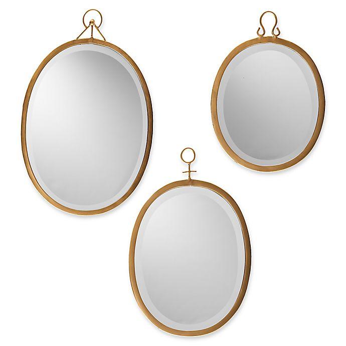 Southern Enterprises Emmalyn 3 Piece Decorative Mirror Set Bed