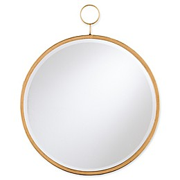 Southern Enterprises Lorena Flower Dreams 23-Inch Round Mirror in Golden Bronze