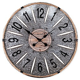 Southern Enterprises Rayornier 36-Inch Round Decorative Oversized Wall Clock