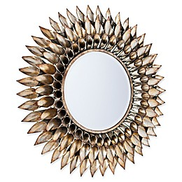 Southern Enterprises Leandro 24.5-Inch Round Decorative Wall Mirror in Silver