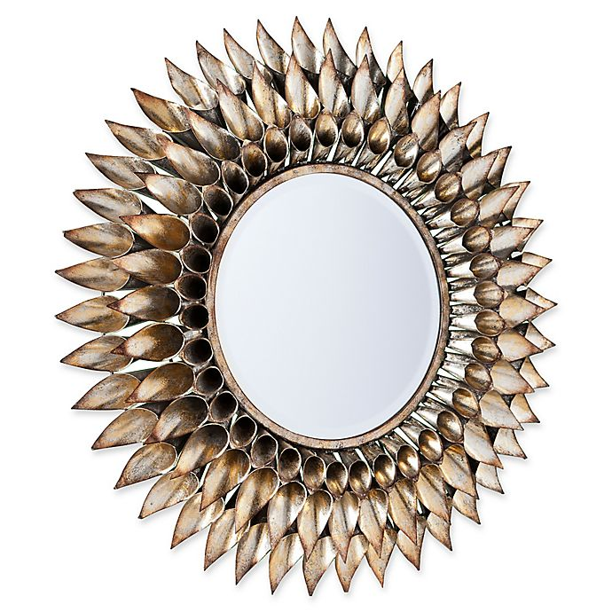 Alternate image 1 for Southern Enterprises Leandro 24.5-Inch Round Decorative Wall Mirror in Silver