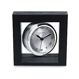 Citizen Decorative Accent Silver-Tone Spinning Clock with Photo Holder and Engravable Plaque