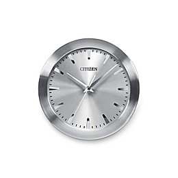 Citizen Gallery Brushed Silver-Tone with Grey Dial Wall Clock