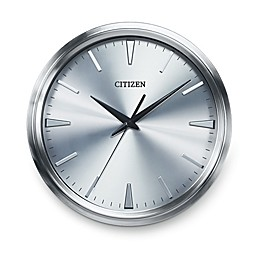 Citizen Gallery Brushed Silver-Tone with Silver Color Dial Wall Clock