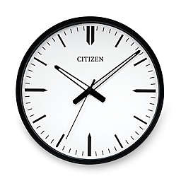 Citizen Gallery Black with White Dial Wall Clock
