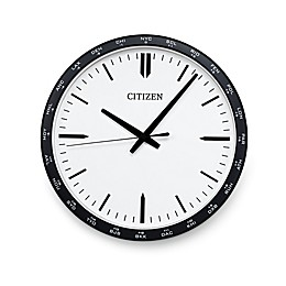 Citizen Gallery World Time Zone Black with White Dial Wall Clock