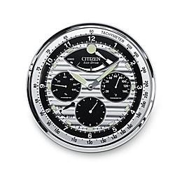 Citizen Gallery Silver-Tone with Silver/Black Dial Hygrometer Luminescent Wall Clock