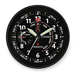 Citizen Gallery Black with Black Dial and Red Accents Wall Clock