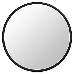 Umbra® Hub 24-Inch Round Wall Mirror in Black