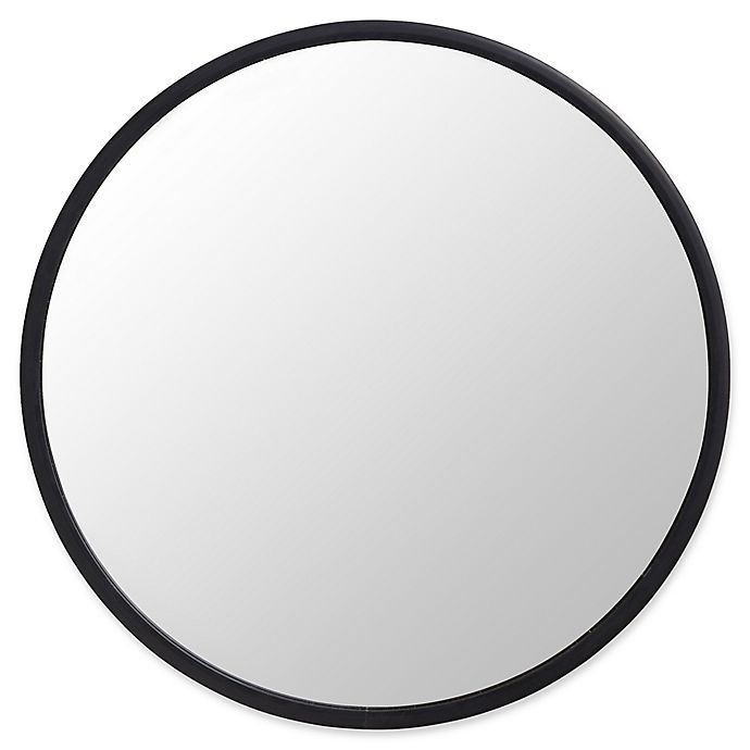 Alternate image 1 for Umbra® Hub 24-Inch Round Wall Mirror in Black