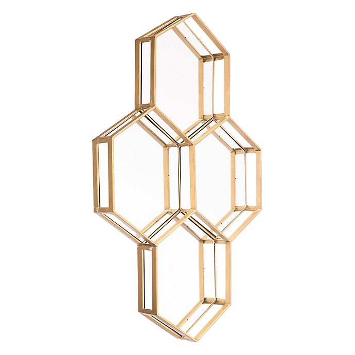Alternate image 1 for Zuo® Modern Honeycomb 20.5-Inch x 29.1-Inch Mirror in Gold