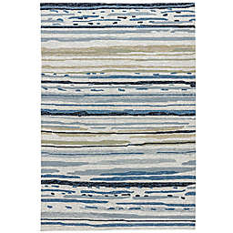 Jaipur Colours 7-Foot 6-Inch x 9-Foot 6-Inch Indoor/Outdoor Rug in Ivory/Blue