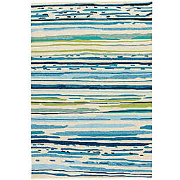 Jaipur Colours 2-Foot x 3-Foot Indoor/Outdoor Rug in Blue/Green