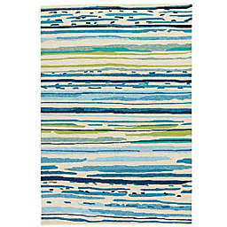 Jaipur Colours 3-Foot 6-Inch x 5-Foot 6-Inch Indoor/Outdoor Rug in Blue/Green