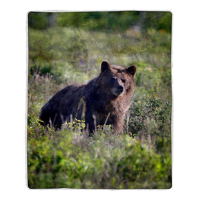 Alternate image 1 for Nottingham Home Bear Sherpa Fleece Throw Blanket