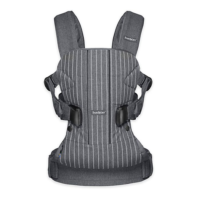 Alternate image 1 for BABYBJÖRN® Carrier One Air Baby Carrier in Grey/Pinstripe