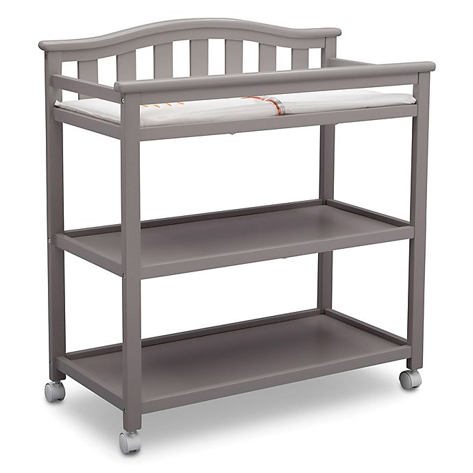 Alternate image 1 for Delta Children Bell Top Changing Table in Grey