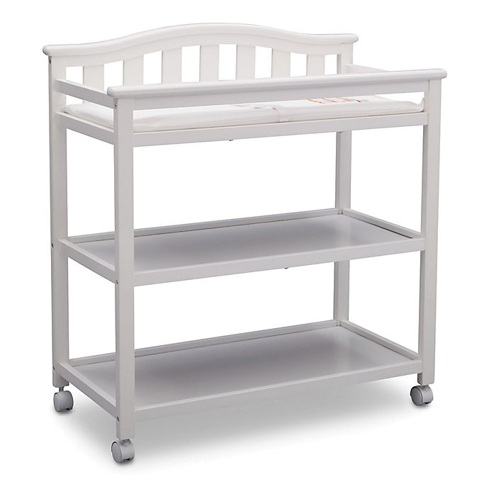 Alternate image 1 for Delta Children Bell Top Changing Table in Bianca White