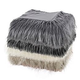 Madison Park Edina Long Faux Fur Throw Blanket