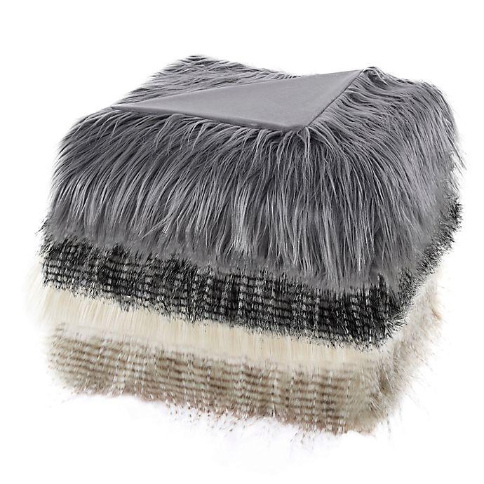 Alternate image 1 for Madison Park Edina Long Faux Fur Throw Blanket