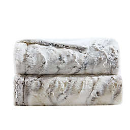 Madison Park Sachi Oversized Faux Fur Throw Blanket