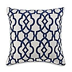 Stathford Flocked 2-Pack Square Throw Pillows in Navy