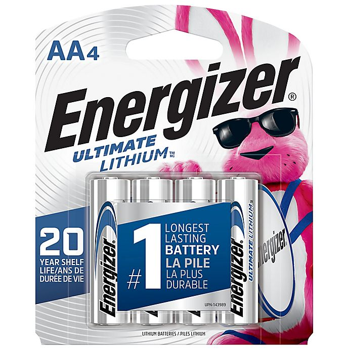 Alternate image 1 for Energizer® Ultimate 4-Pack AA 1.5-Volt Lithium Batteries