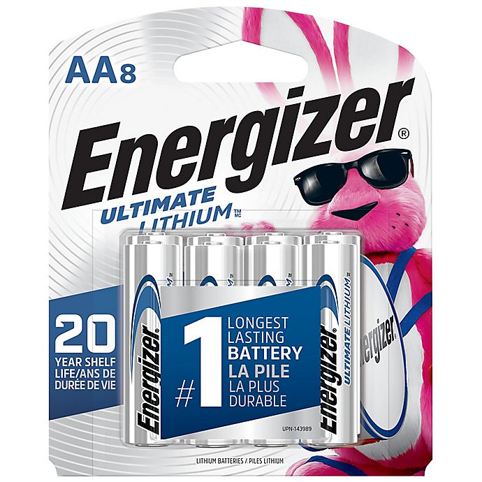 Alternate image 1 for Energizer® Ultimate 8-Pack AA 1.5-Volt Lithium Batteries