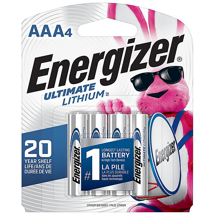 Alternate image 1 for Energizer® Ultimate 4-Pack AAA 1.5-Volt Lithium Batteries