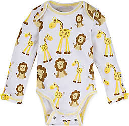 MiracleWear Giraffe and Lion Bodysuit in Gold