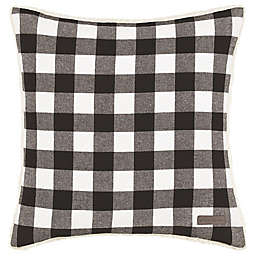 Eddie Bauer® Cabin Plaid Square Throw Pillow in Black