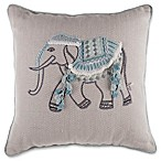 Elephant Tassel Square Throw Pillow in Spa