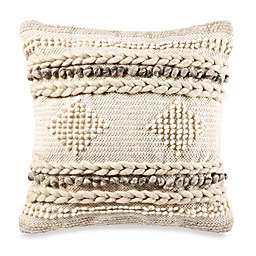 Diamond Square Throw Pillow in Natural