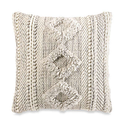 Tufted Square Throw Pillow in Grey