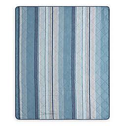 Blake Indoor/Outdoor Throw Blanket in Aqua