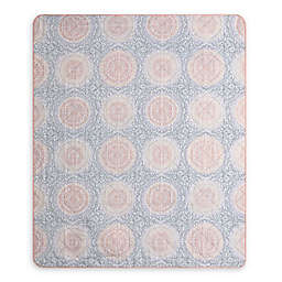 Mona Indoor/Outdoor Throw Blanket in Blush