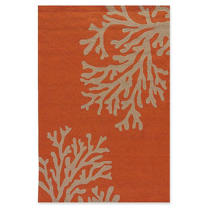 Alternate image 1 for Jaipur Grant Design Bough Out Indoor/Outdoor Rug in Orange/Grey