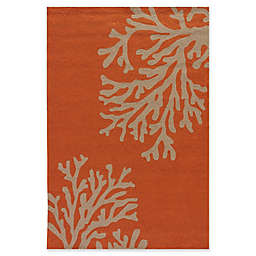 Jaipur Grant Design Bough Out 2-Foot x 3-Foot Indoor/Outdoor Rug in Orange/Grey