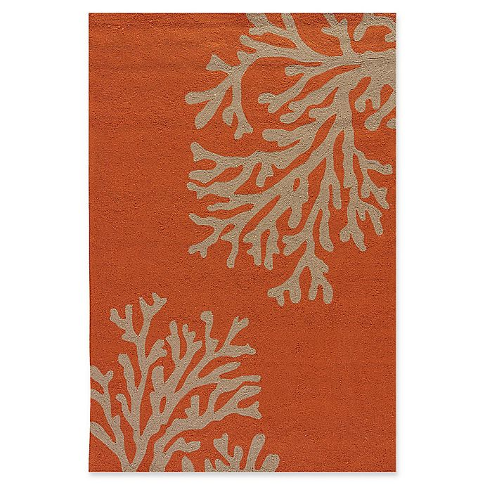 Alternate image 1 for Jaipur Grant Design Bough Out 7-Foot 6-Inch x 9-Foot 6-Inch Indoor/Outdoor Rug in Orange/Grey