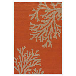 Jaipur Grant Design Bough Out 7-Foot 6-Inch x 9-Foot 6-Inch Indoor/Outdoor Rug in Orange/Grey