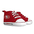 Baby Fanatic Size 0-6M  NFL San Francisco 49ers  High Top Pre-Walkers in Red/Gold