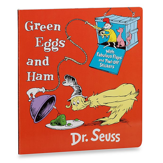 Alternate image 1 for Dr. Seuss' Green Eggs and Ham with Stickers Board Book