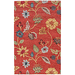 Jaipur Blue Collection Floral Rug in Red Multi