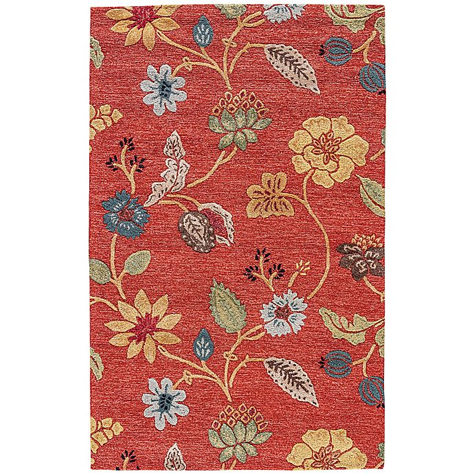 Alternate image 1 for Jaipur Blue Collection Floral 9-Foot x 12-Foot Area Rug in Red Multi