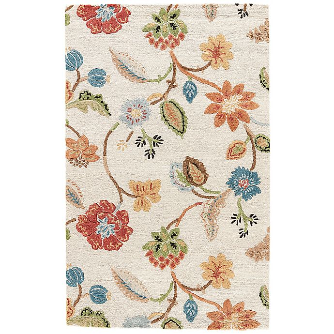 Alternate image 1 for Jaipur Blue Collection Floral 6-Foot Round Rug in Ivory Multi